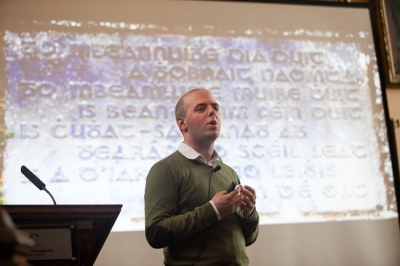 Presenting at UCC's Doctoral Showcase 2013 (Photo: UCC photographer Tomas Tyner)