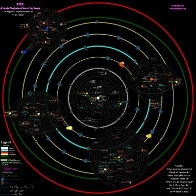 Map of the 'Verse: CNC (Celestial Navigation Chart of the Verse)  Version 1.06  Source: http://www.fireflyfans.net/mthread.aspx?bid=2&tid=50808 Accessed 8 Feb 2013
