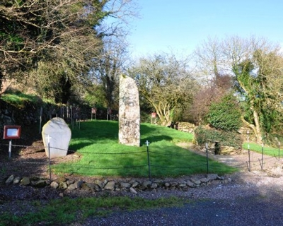 St Olan's Well, Aghabullogue, Cork: the Stations can be seen in the background circling the side and rear of the site. 