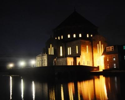 The Basilica at during the Vigil