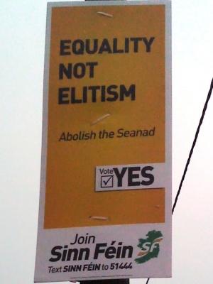 Sinn Féin Seanad Referendum Poster