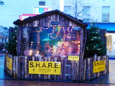 The SHARE Crib acts as a focal point for the week's activities.