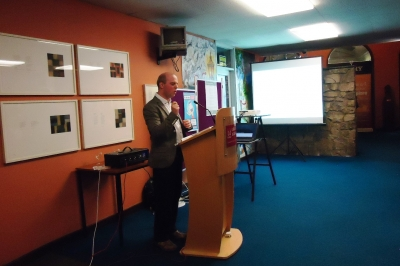 Richard Scriven, Department of Geography UCC, talking.