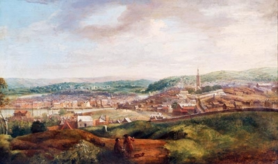 View of Cork from Audley Place c.1750 by John Butts from the Crawford Art Gallery collection (Cat. No. 299-P)  https://www.crawfordartgallery.ie/pages/paintings/JohnButts.html